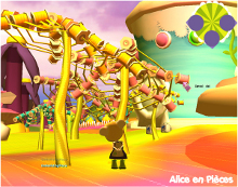 screenshot of Alice en pièces